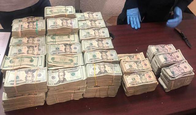 Parte del efectivo asegurado por la SEDENA y el SAT más de $1 millón de dólares