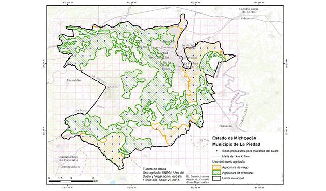 Mapa de Fertilidad Agrícola de La Piedad