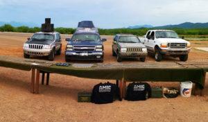 Invernadero y vehículos blindados