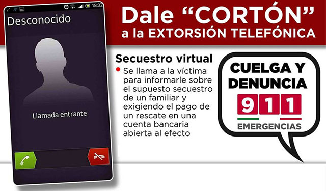 extorsión telefónica