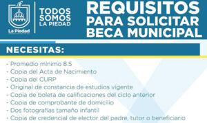 Becas Municipales La Piedad requisitos