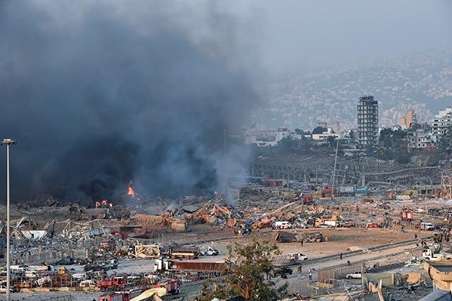 Beirut Líbano Explosión 3