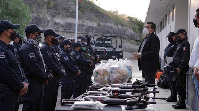 policías La Piedad apoyod