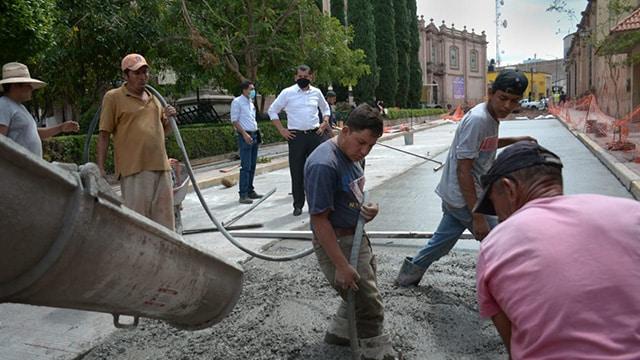 Madero Centro La Piedad pavimentación