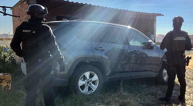 Tanhuato vehículo recuperado