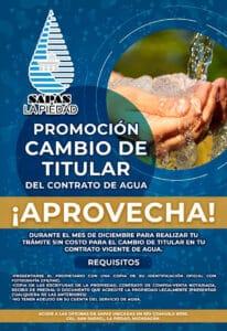 Contrato agua SAPAS La Piedad