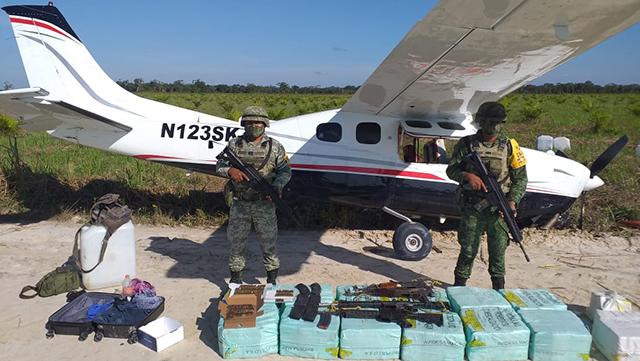 aeronave cocaína Campeche 1