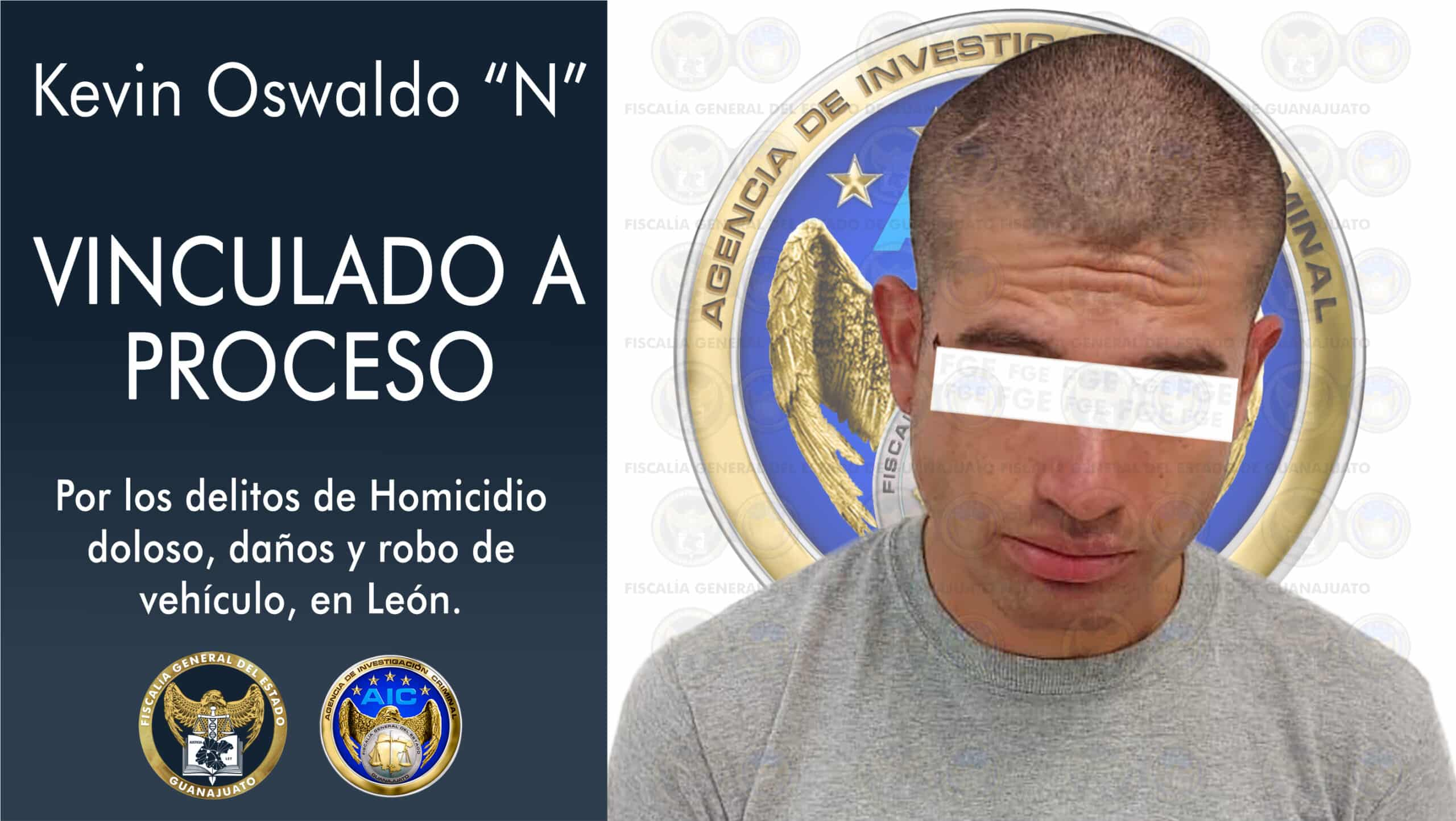 León robo auto homicidio