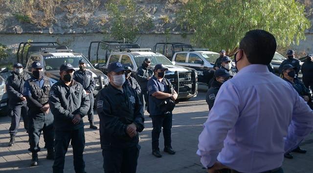 Medidas Sanitarias policia La Piedad 1