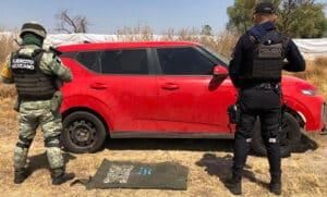 Tanhuato auto robado droga 1