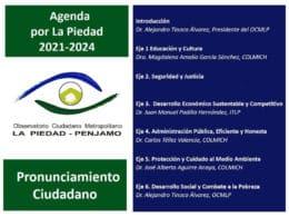 Agenda La Piedad 2021-2024