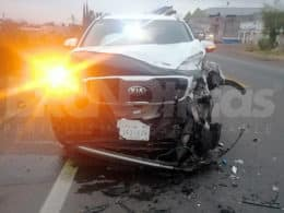Santa Ana choque menor lesionado