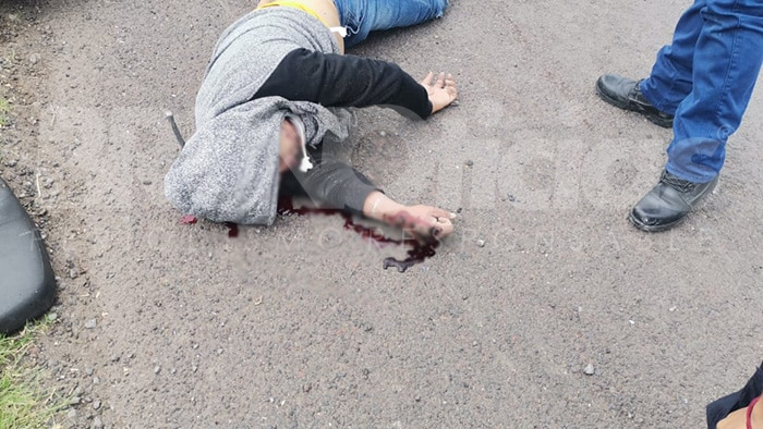 entronque Numarán motociclista muerto