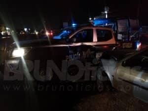 patrulla auto choque Santa Ana