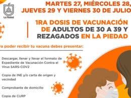 vacunación La Piedad 30-39 años