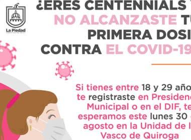 centennials vacunación La Piedad