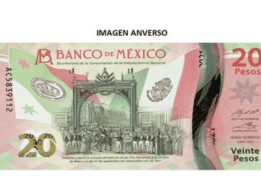 billete 20 pesos 200 años independencia